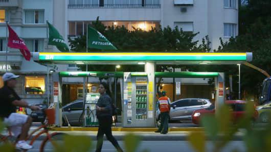 A Petrobras station on September 28, 2015 in Rio de Janeiro, Brazil.