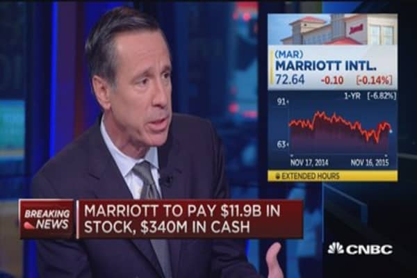 Marriott CEO: Global synergy powerful with Starwood