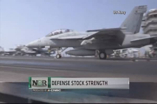 Defense stocks soar