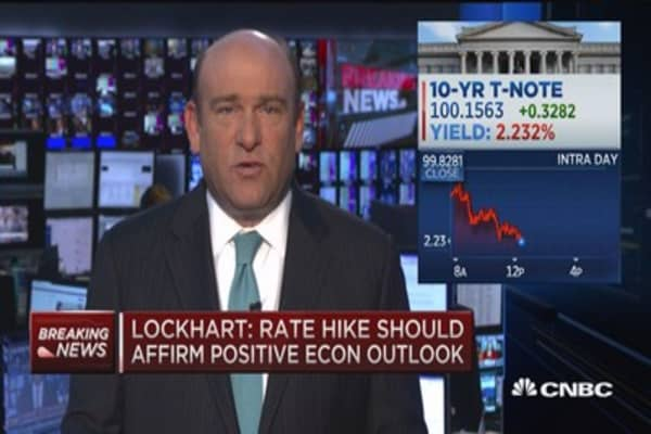 Lockhart: Comfortable moving off 0 rate soon
