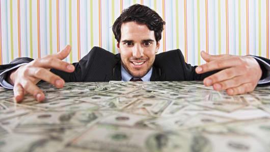 Filthy rich businessman