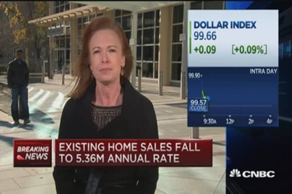 Existing home sales disappoint, slip 3.4 percent in October