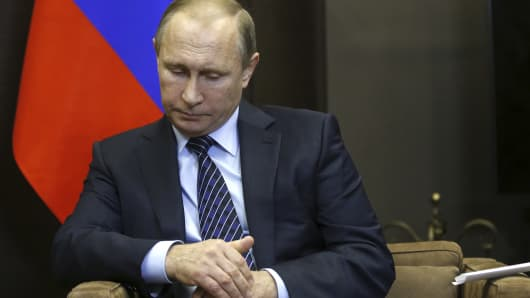 "Speaking before a meeting with Jordan's King Abdullah, Russian President Vladimir Putin called Turkey's downing of a Russian fighter jet ""a stab in the back"" carried out by the accomplices of terrorists, saying the incident would have serious consequences for Moscow's relations with Ankara."