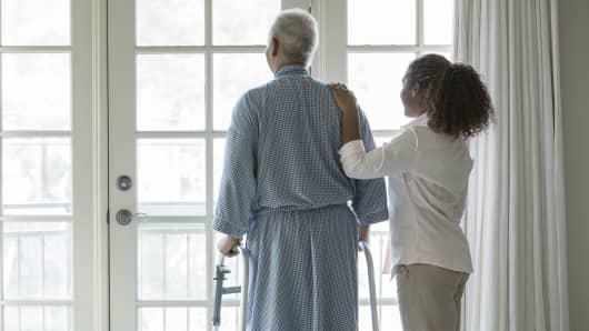 Senior man nursing home