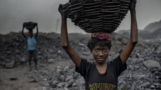 16 year old MD Kahn is a worker at the Jharia coal mine.Jharia in India's eastern Jharkand state is literally in flames.