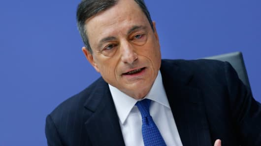 European Central Bank president Mario Draghi addresses a news conference at the ECB headquarters in Frankfurt, Germany, December 3, 2015.
