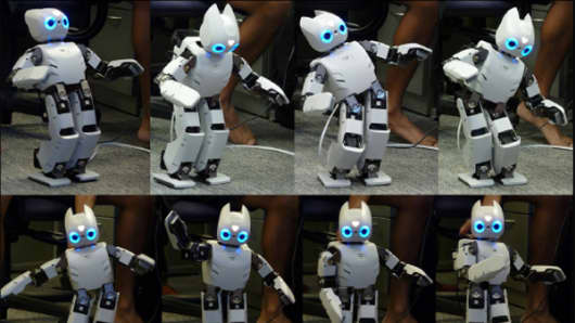 Different capabilities of the Darwin robot.