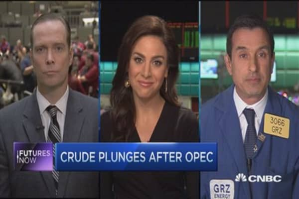 Futures Now: Crude selling off after OPEC