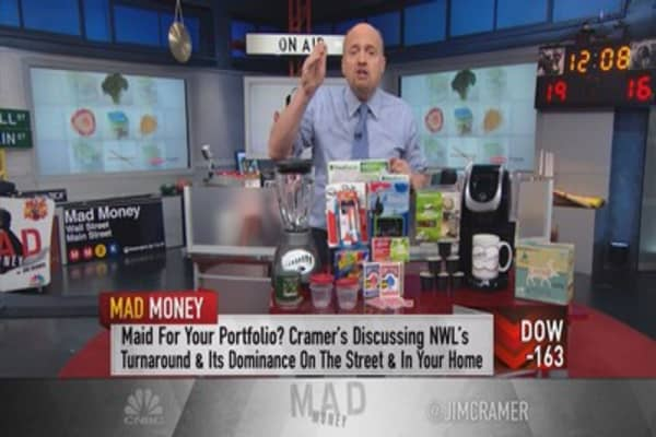 Cramer deals trying to escape the tide of negativity for Jarden newell