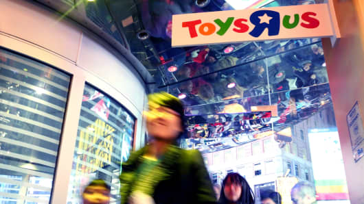 Customers at a Toys R Us store in New York.