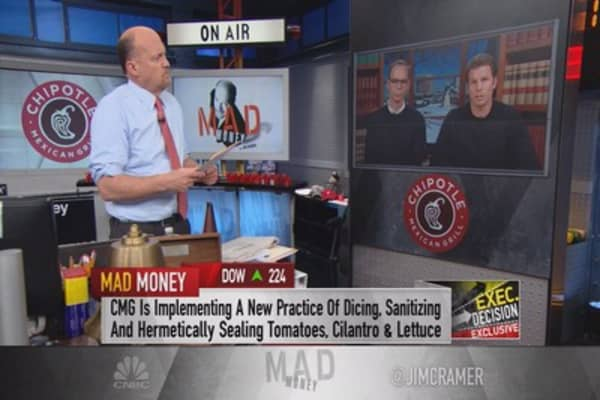 Chipotle co-CEOs to Cramer: Making sure we're safest place to eat