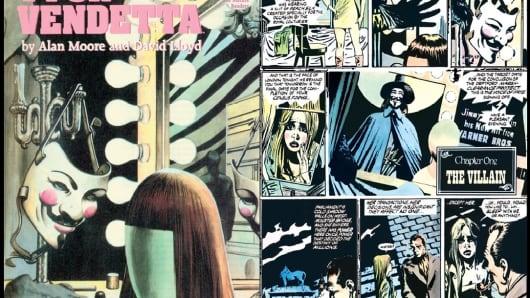 """Comic panels from """"V for Vendetta"""""""