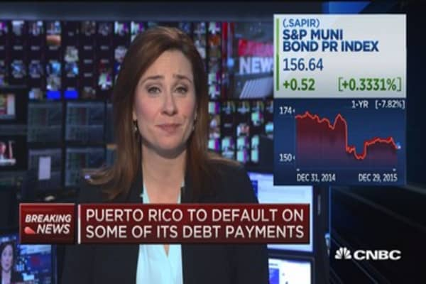 Puerto Rico to default on some of its debt payments