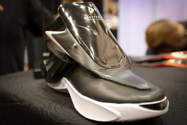 Digitsole smartshoe unveiled at CES 2016 in Las Vegas.