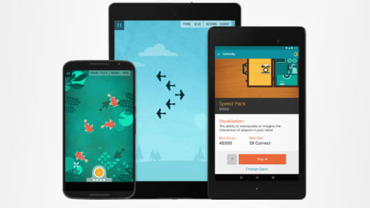 Lumosity screen images