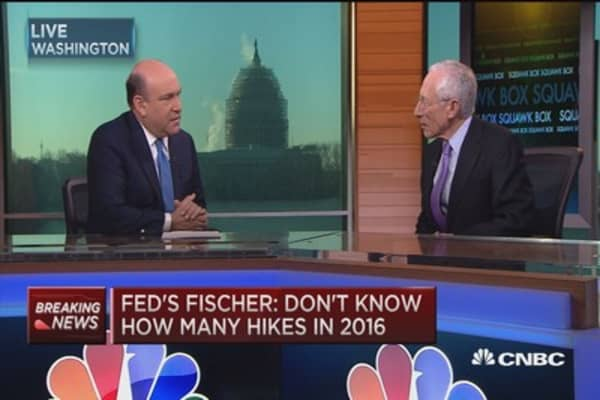 Fed's Fischer: Four hikes in the ballpark