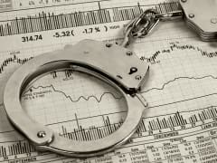 Stock fraud handcuffs