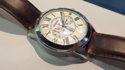 Fossil Q54 Pilot watch at CES 2016