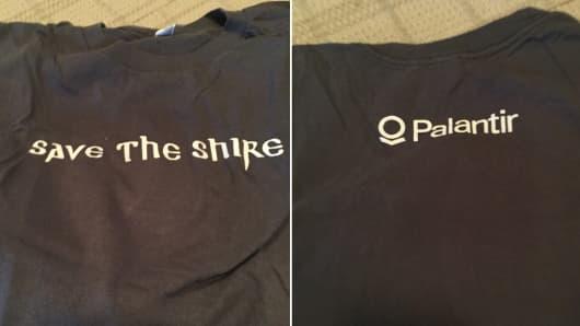 Palantir t-shirt.