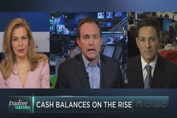 Cash balances increasing