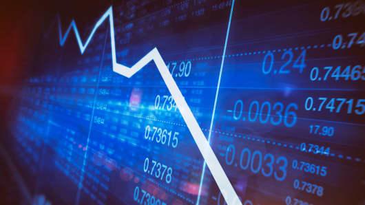 Down chart stocks