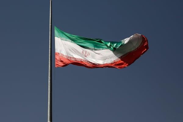 Iranian flag in Tehran, Iran