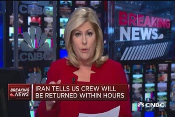 2 navy boats in Iranian custody: NBC