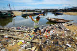 Trash beach China