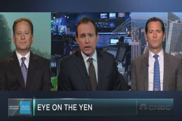 Watching the Japanese yen