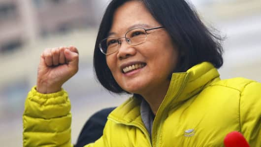 Taiwan's president-elect Tsai Ying-wen took office amid political pressure from Beijing.