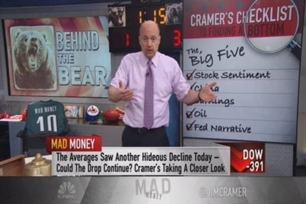 Cramer's checklist: The big five