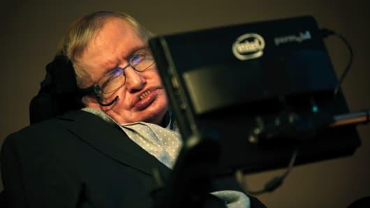 Stephen Hawking in London in 2015.
