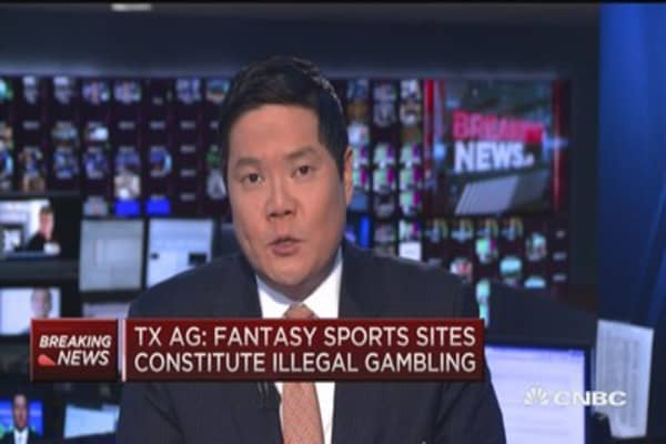 TX AG: Fantasy sports constitute illegal gambling