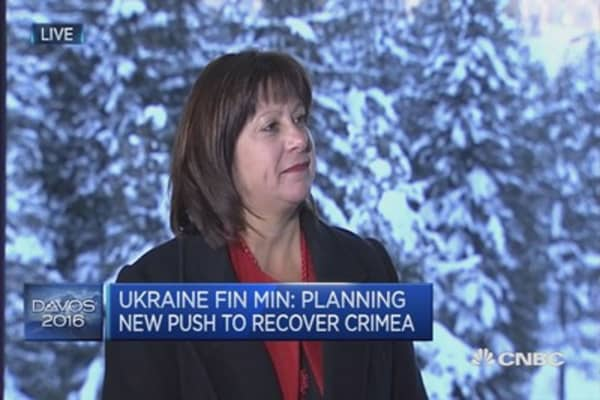 The future of Crimea: Ukraine fin min