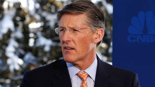 Michael Corbat, CEO of Citigroup at the 2016 World Economic Forum in Davos, Switzerland.