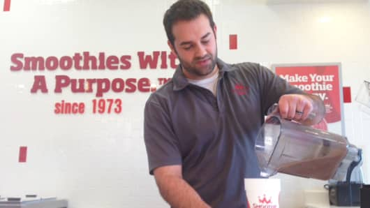 Brandon Shamy, a New Jersey-based Smoothie King franchisee, is seeing a boosted bottom line thanks to lower oil prices.