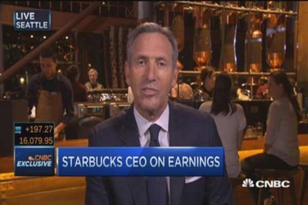 Starbucks CEO on record quarters: Our numbers 'unheard of'
