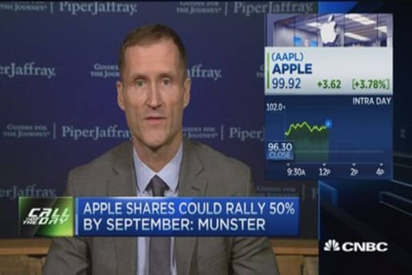 Apple could rally 50% by Sept.: Analyst
