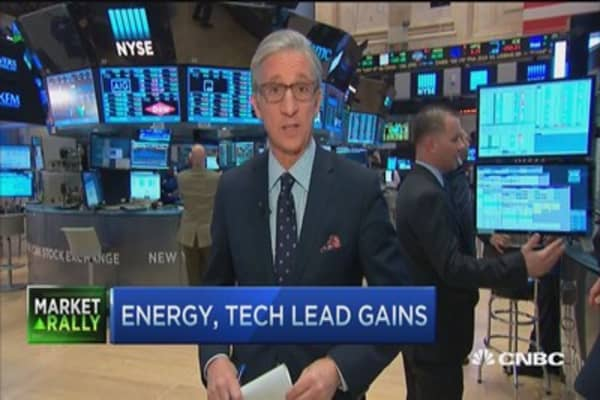Market boosted by energy, oil gains