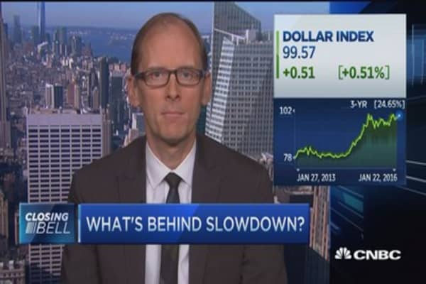 Strong dollar main reason US economy is slowing