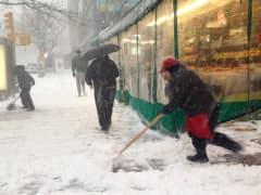 Snow storm weather New York