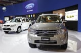 A Ford Motor Co. Everest sport-utility vehicle (SUV) is displayed at the Indonesia International Motor Show in Jakarta, Indonesia