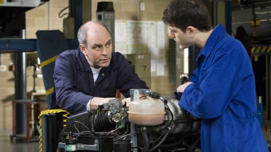 Millennial apprenticeship mechanic