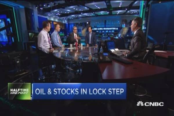 Oil & stocks in lock step