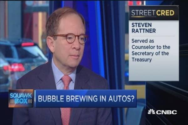 Bubble brewing in autos?