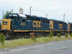 CSX Locomotives in Framingham, Ma. yard