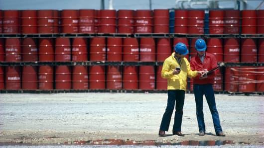 Oil barrels over supply