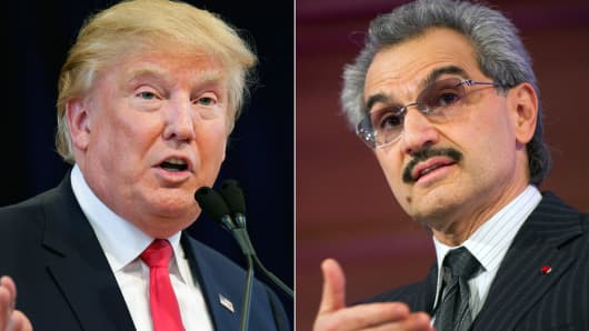 Donald Trump and Prince Alwaleed Bin Talal