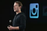 Facebook CEO Mark Zuckerberg speaks during a press event at Facebook headquarters