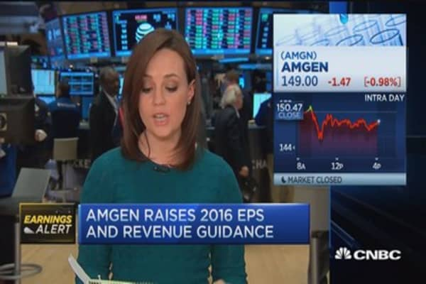 Amgen tops earnings expectations